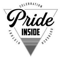 PRIDE INSIDE CELEBRATION OUTREACH HISTORY