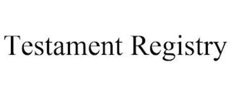 TESTAMENT REGISTRY