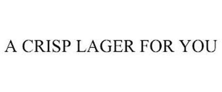 A CRISP LAGER FOR YOU