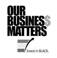 OUR BUSINES$ MATTERS INVEST IN BLACK.