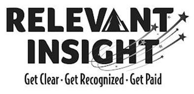 RELEVANT INSIGHT GET CLEAR·  GET RECOGNIZED · GET PAID