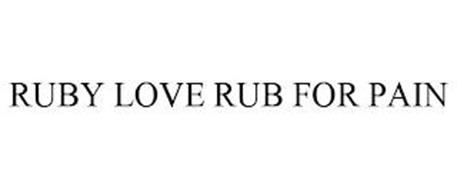 RUBY LOVE RUB FOR PAIN