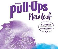 HUGGIES PULL-UPS NEW LEAF THE SOFTEST WITH PLANT-BASED INGREDIENTS