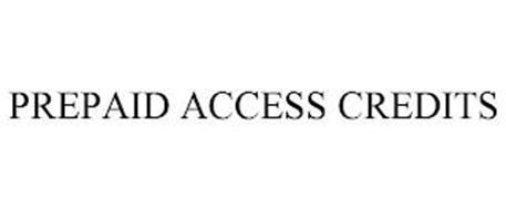 PREPAID ACCESS CREDITS