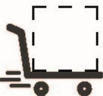 A SHOPPING CART DESIGN. THE MATTER APPEARING WITHIN THE BROKEN LINES IS NOT PART OF THE MARK AND SERVES ONLY TO SHOW THE POSITION OF INDIVIDUALLY IDENTIFIABLE PACKAGING INFORMATION.