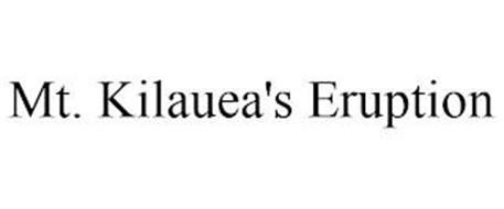 MT. KILAUEA'S ERUPTION