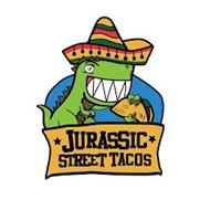 ANTHROPOMORPHIC TYRANNOSAURUS REX WEARING A HAT AND HOLDING A TACO IS A CARTOON CHARACTER