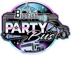BIG FISH BUSINESS LLC, PARTY BUS, FISH,MIC,DRINK GLASSES,