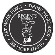 EAT MORE PIZZA DRINK MORE BEER BE MORE HAPPY REGENTS PIZZERIA