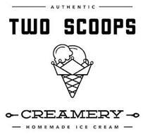 AUTHENTIC TWO SCOOPS CREAMERY HOMEMADE ICE CREAM