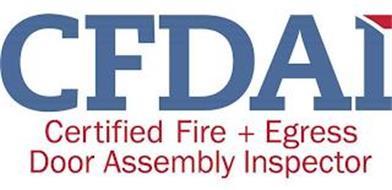 CFDAI CERTIFIED FIRE + EGRESS DOOR ASSEMBLY INSPECTOR