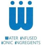 W WATER INFUSED IONIC INGREGIENTS