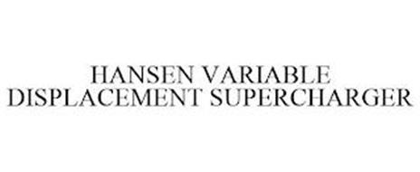 HANSEN VARIABLE DISPLACEMENT SUPERCHARGER