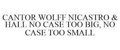 CANTOR WOLFF NICASTRO & HALL NO CASE TOO BIG, NO CASE TOO SMALL