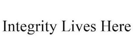 INTEGRITY LIVES HERE