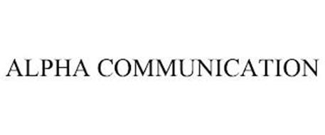 ALPHA COMMUNICATION