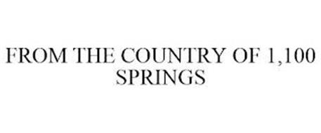 FROM THE COUNTRY OF 1,100 SPRINGS