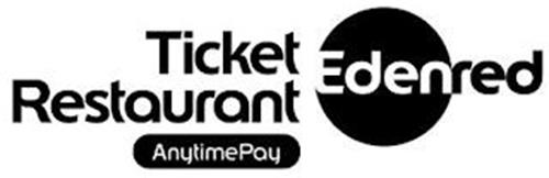 TICKET RESTAURANT ANYTIMEPAY EDENRED