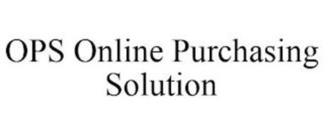 OPS ONLINE PURCHASING SOLUTION