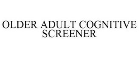 OLDER ADULT COGNITIVE SCREENER