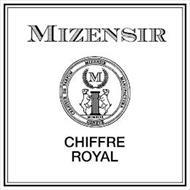 MIZENSIR CHIFFRE ROYAL CREATEUR DE PARFUM MIZENSIR MANUFACTURA GENEVE MCMXCIX