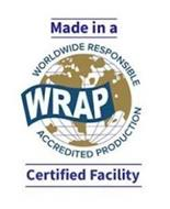 MADE IN A CERTIFIED FACILITY WRAP WORLDWIDE RESPONSIBLE ACCREDITED PRODUCTION