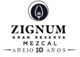 ZIGNUM GRAN RESERVA MEZCAL AÑEJO 10 AÑOS