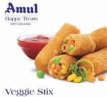AMUL HAPPY TREATS READY TO COOK & SERVE VEGGIE STIX