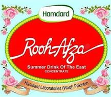 HAMDARD ROOH AFZA SUMMER DRINK OF THE EAST CONCENTRATE HAMDARD LABORATORIES (WAQF) PAKISTAN