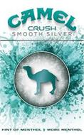 CAMEL CRUSH SMOOTH SILVER HINT OF MENTHOL MORE MENTHOL