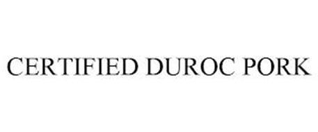CERTIFIED DUROC PORK