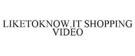 LIKETOKNOW.IT SHOPPING VIDEO