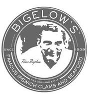 BIGELOW'S SINCE 1939 NEW ENGLAND STYLE FAMOUS IPSWICH CLAMS AND SEAFOOD RUSS BIGELOW