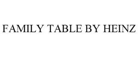 FAMILY TABLE BY HEINZ