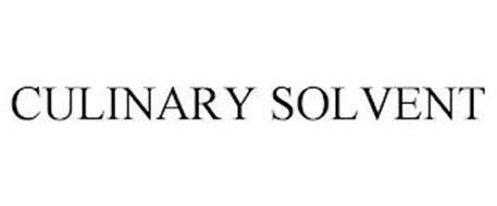 CULINARY SOLVENT