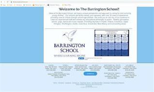 BARRINGTON SCHOOL WHERE LEARNING BEGINS