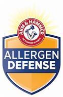 ARM & HAMMER THE STANDARD OF PURITY ALLERGEN DEFENSE