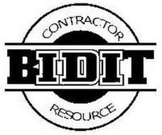 BIDIT CONTRACTOR RESOURCE