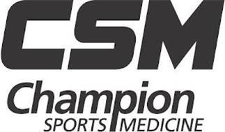 CSM CHAMPION SPORTS MEDICINE