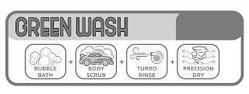 GREEN WASH BUBBLE BATH + BODY SCRUB + TURBO RINSE + PRECISION DRY