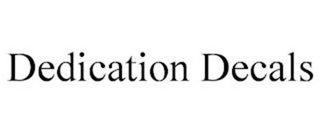 DEDICATION DECALS