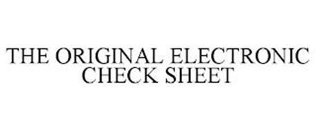 THE ORIGINAL ELECTRONIC CHECK SHEET