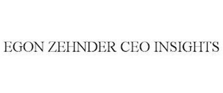 EGON ZEHNDER CEO INSIGHTS