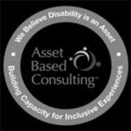 ASSET BASED CONSULTING. WE BELIEVE DISABILITY IS AN ASSET. BUILDING CAPACITY FOR INCLUSIVE EXPERIENCES