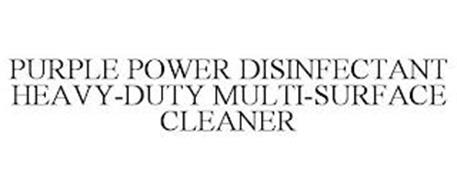 PURPLE POWER DISINFECTANT HEAVY-DUTY MULTI-SURFACE CLEANER