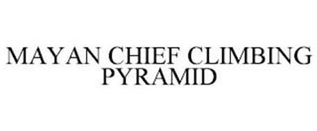 MAYAN CHIEF CLIMBING PYRAMID