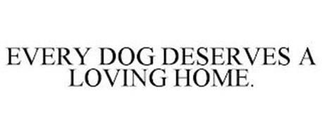 EVERY DOG DESERVES A LOVING HOME.