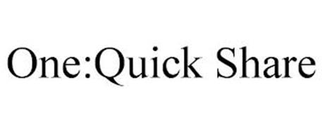ONE:QUICK SHARE
