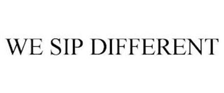 WE SIP DIFFERENT