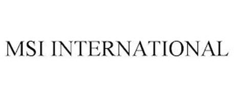 MSI INTERNATIONAL